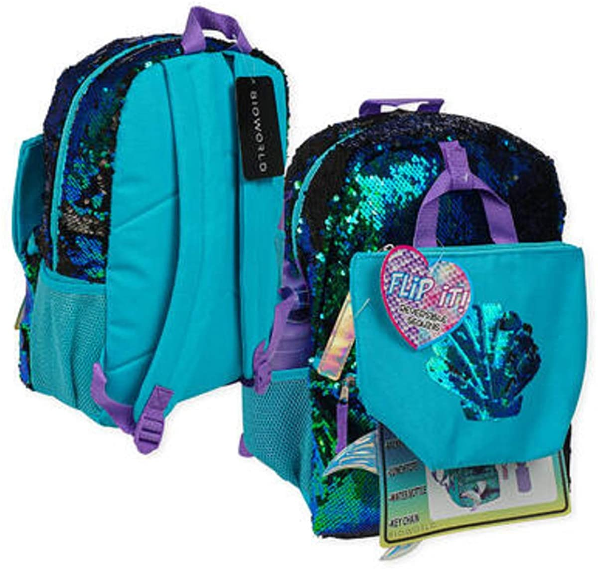 Mermaid Backpack, Lunch box and Water Bottle