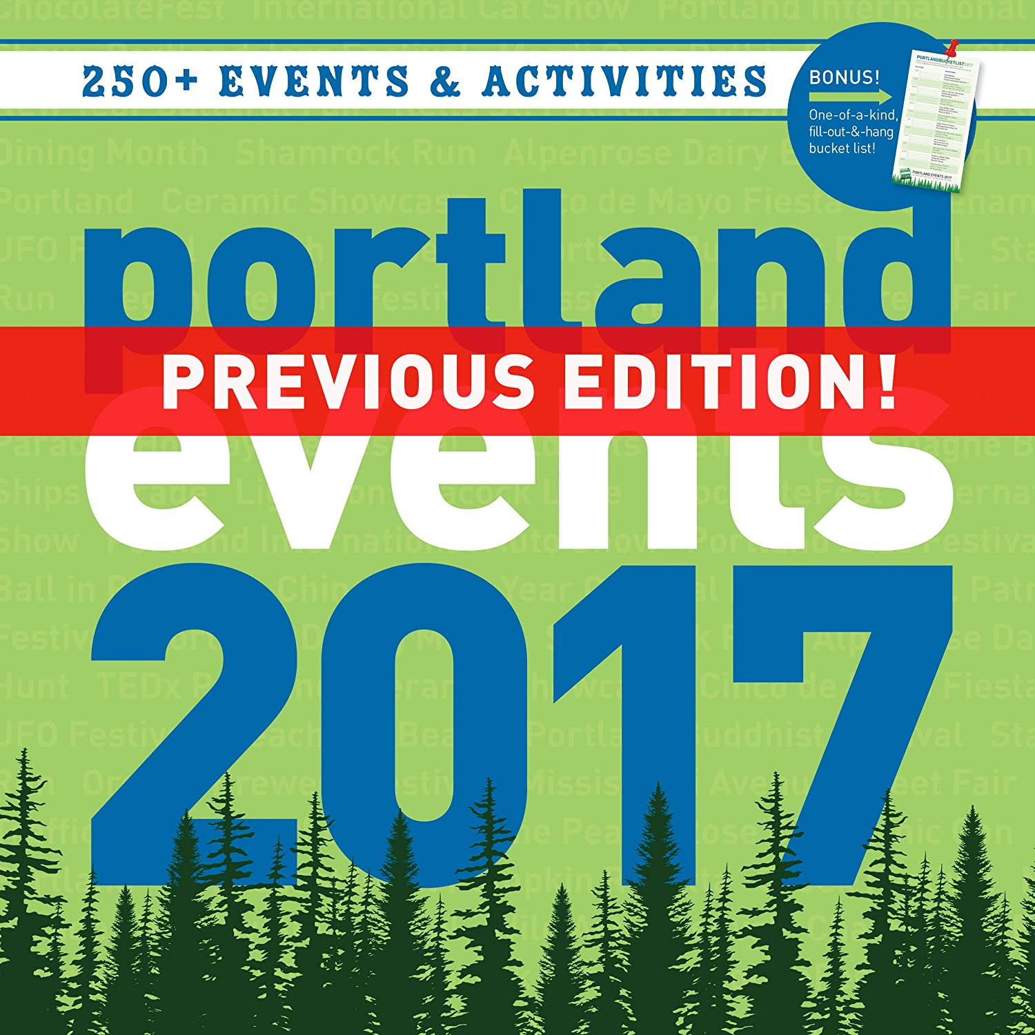 Portland Events 2017 Wall Calendar - Over 250 Portland Oregon Event Dates and Activities Already On Your Calendar!