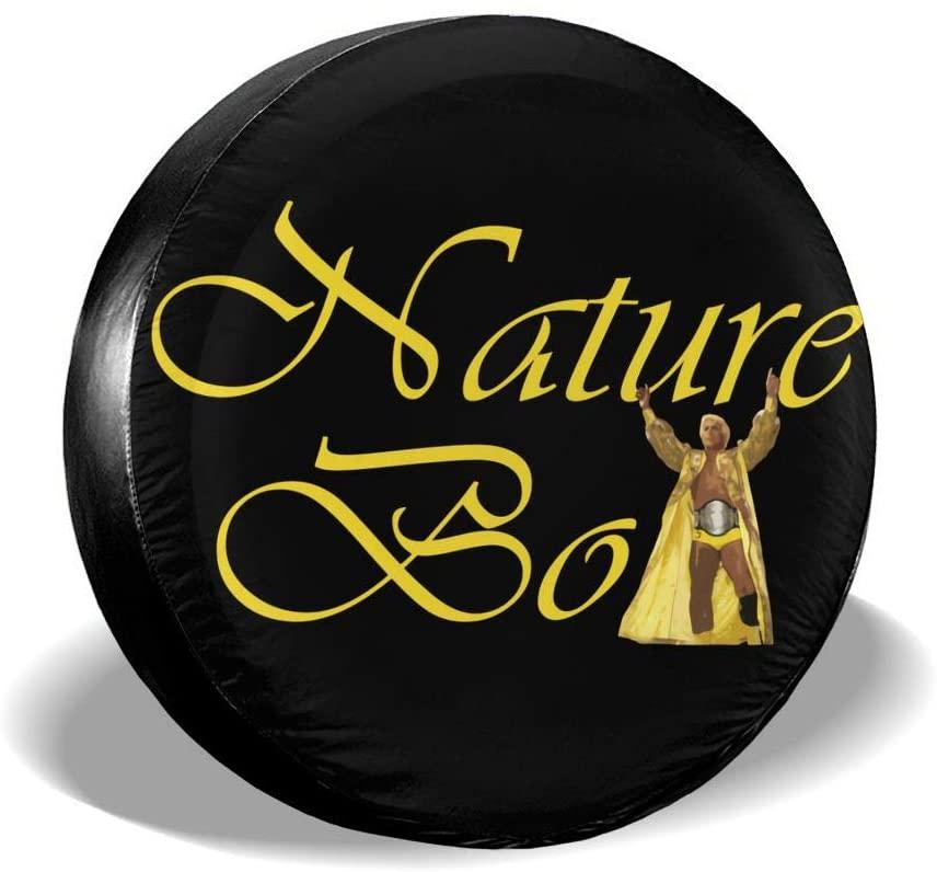 Wrestling Nature Boy Spare Tire Cover Universal Spare Wheel Tire Covers for Jeep, Rv, SUV, Trailer, Truck