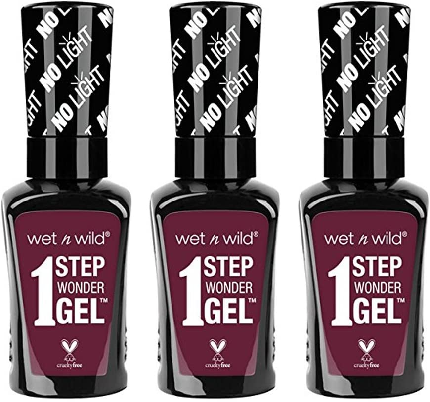 Wet & Wild 1 Step Wonder Gel Nail Color, 733a Left Marooned, 0.45 Ounce