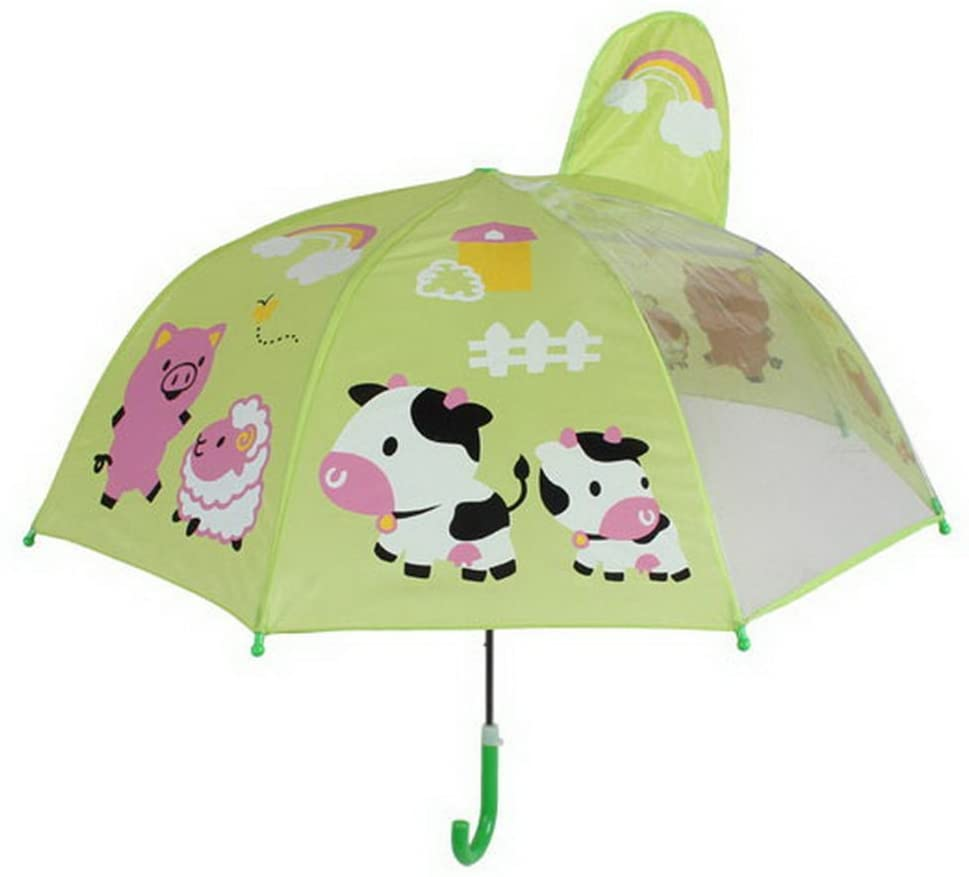 Gentle Meow Cute Creative Cartoon Childrens Umbrella, Happy Farm