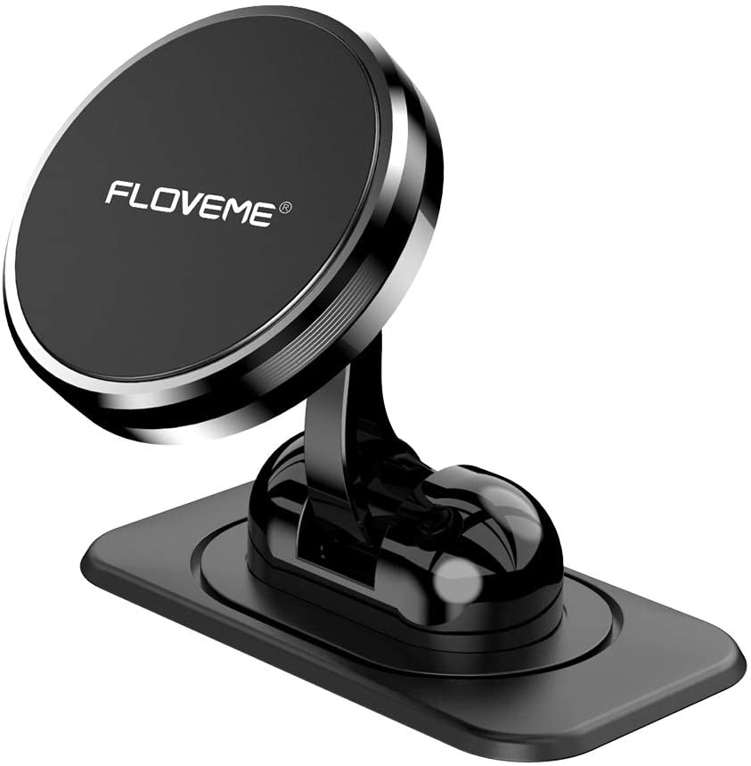 Magnetic Phone Car Mount - FLOVEME 360° Rotate Magnetic Cell Phone Holder for Car Dashboard Hands Free Phone Magnet Car Mount for iPhone 11 Pro Xs Max X XR 8 7 6 Samsung Note 10 9 S11 S10 S9 S8 Plus