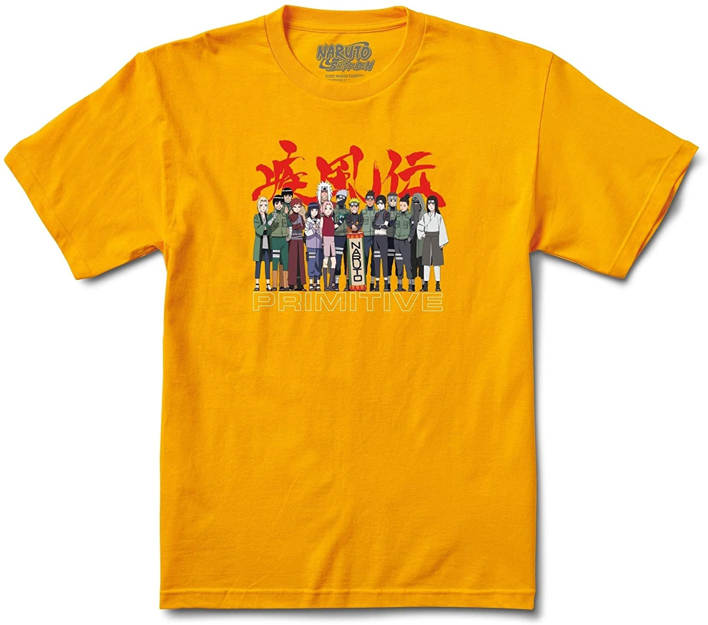 Primitive x Naruto Leaf Village T-Shirt (Gold)