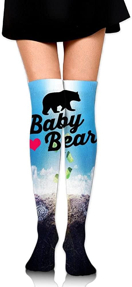 Women's Knee High Socks Baby Bear Winter Warm Thigh High Long Stockings