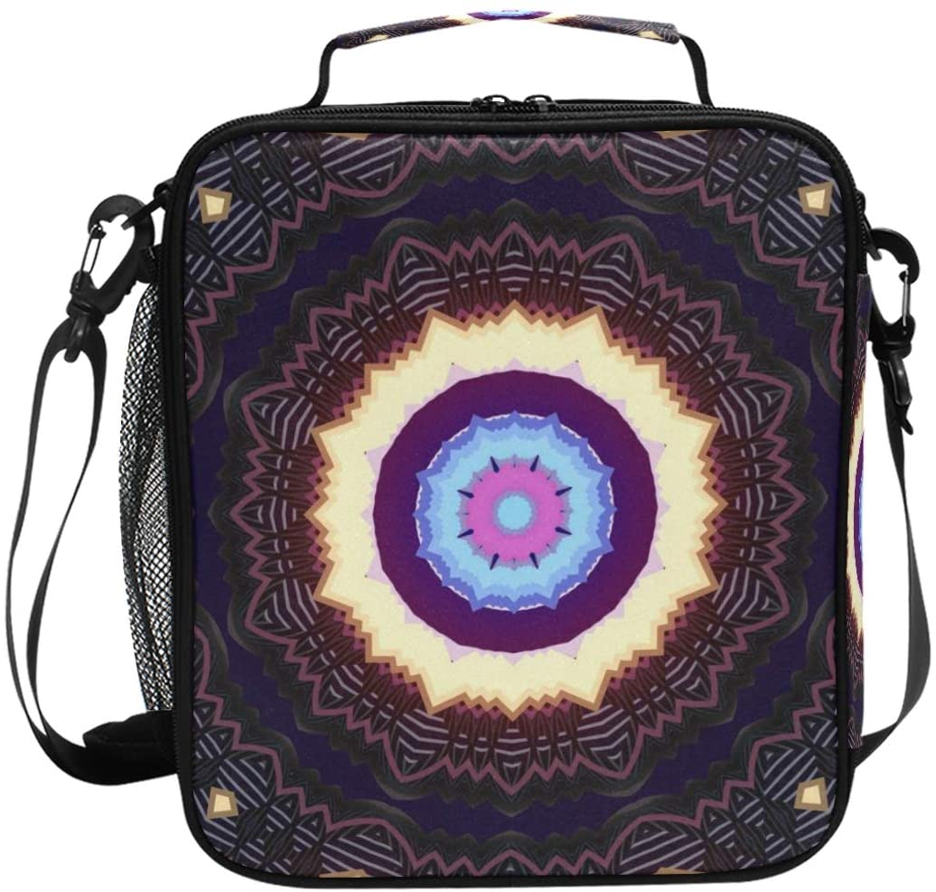 KLL Mandala Original Lunch Bag Insulated Lunch Box - Kids' Adult Insulated Lunch Box Lunchbox to Seize Your Day