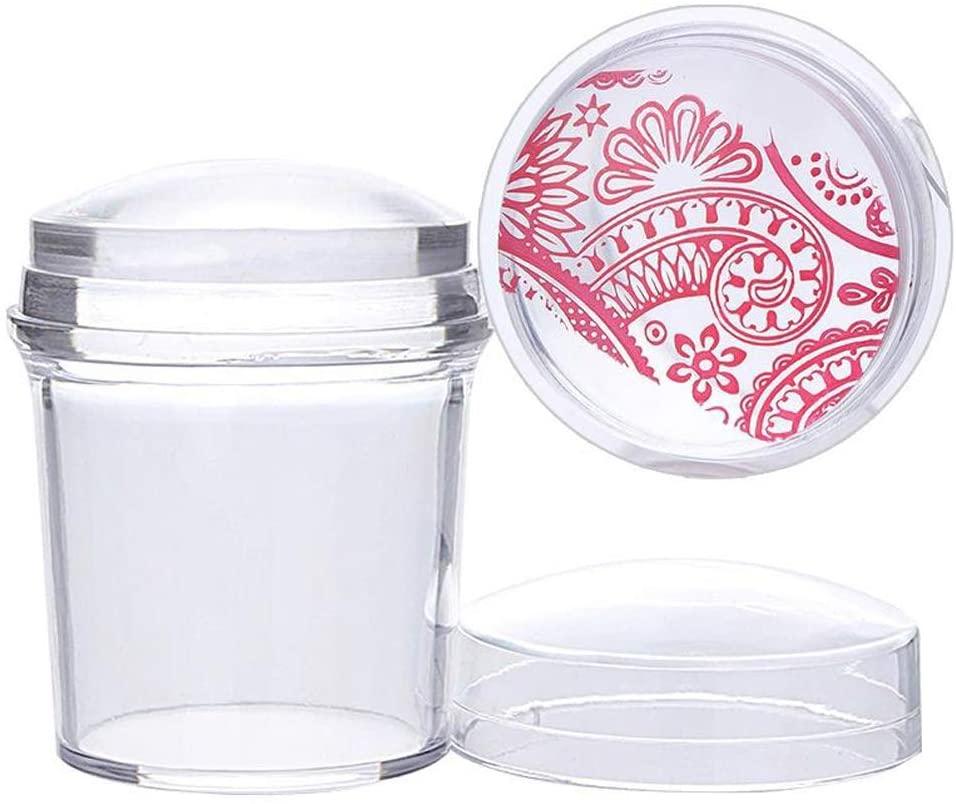 Lurrose Nail Art Stamper Set Manicure Seal Clear DIY Printing Stamper Transparent Soft Stamper Nail Art Stamping Tools