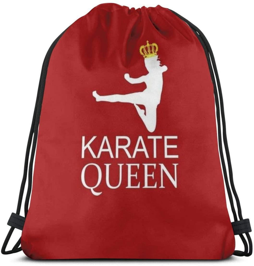 Backpack Drawstring Bags Cinch Sack String Bag Karate Font Empress Sackpack For Beach Sport Gym Travel Yoga Camping Shopping School Hiking Men Women