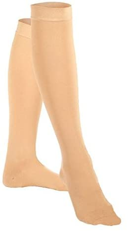 VenoMedical USA 20-30 mmHg Below Knee Closed Toe Color: Beige, Size: Medium