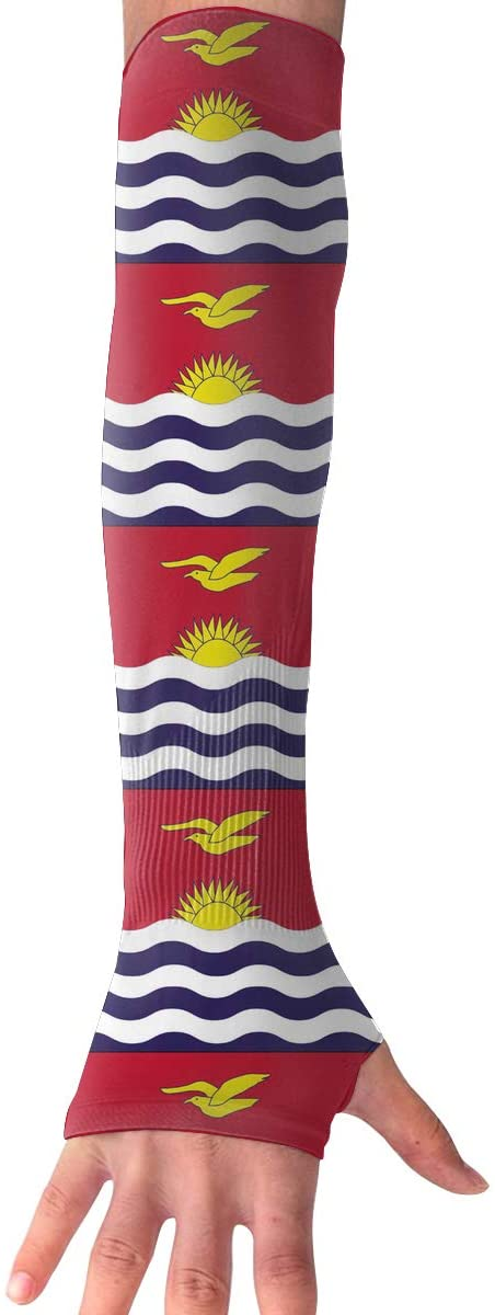 Sports Arm Sleeves Flag of Kiribati UV Sun Protection Arm Sleeves with Thumb Holes Cooling Arm