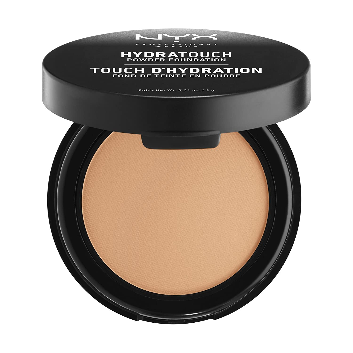NYX PROFESSIONAL MAKEUP Hydra Touch Powder Foundation, Amber, 0.31 Ounce
