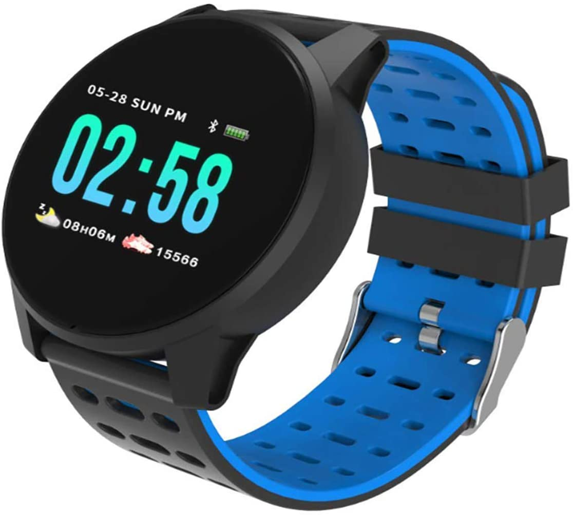 Martins HomeM6 Smart Watch Wristbands Bracelet, Pedometer Fitness Tracker with Colorful Screen & Heart Rate, Blood Oxygen, and Blood Pressure Monitor for Kids Women and Men (Blue)