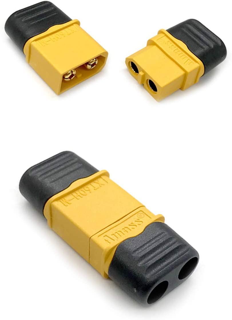 Geesatis 5 Pairs XT60H Connectors Power Plugs Set Battery Discharging Terminal for Lipo Battery Male Female Bullet Connectors Power Plugs