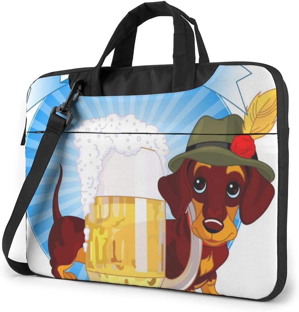 Laptop Shoulder Bag - Oktoberfest Party Printed Shockproof Waterproof Laptop Shoulder Backpack Bag Briefcase 13 Inch
