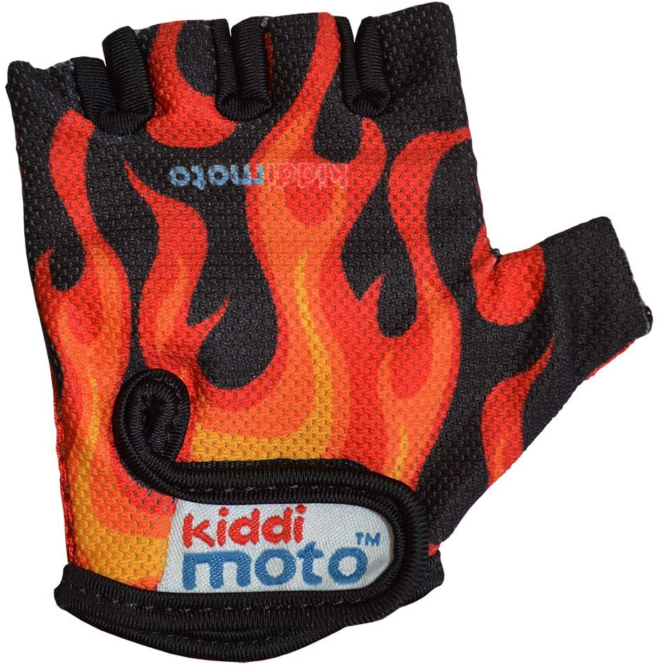 Kiddimoto - Cycling Gloves | Fingerless Gloves for Kids | Perfect for Bike, Scooter & Skateboard | Ideal for Boys and Girls | Available in Different Colourful Designs & Sizes
