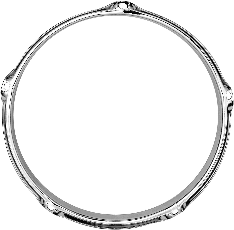 Goedrum 1PC 8 Inch 5 Hole Tom Drum Hoop/Drum Rim 8 Inch 5-Lug/Chrome