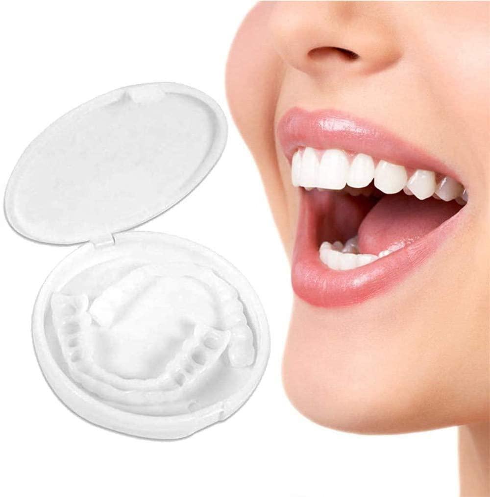 Ulat 6 Pcs Teeth Denture Glue, Cosmetic Teeth, Temporary Teeth Veneer, Dental Veneers for Adults,Perfect Smile Veneers in Stock Correction Teeth False Denture Bad Teeth Veneers Teeth Whitening