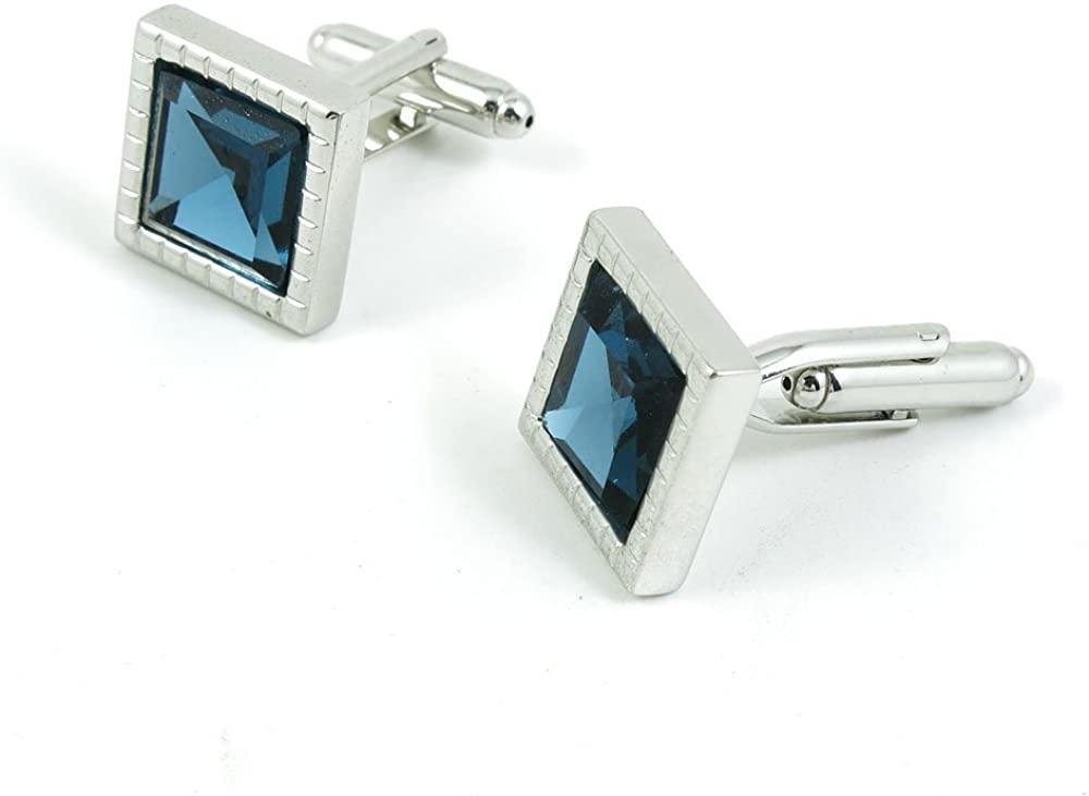 Cufflinks Cuff Links Fashion Mens Boys Jewelry Wedding Party Favors Gift BHU095 Gem Silver Frame