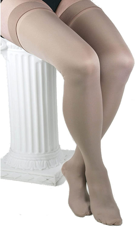 ITA-MED Microfiber Knee Highs - Compression (25-35 mmHg): H-306, Beige, Medium