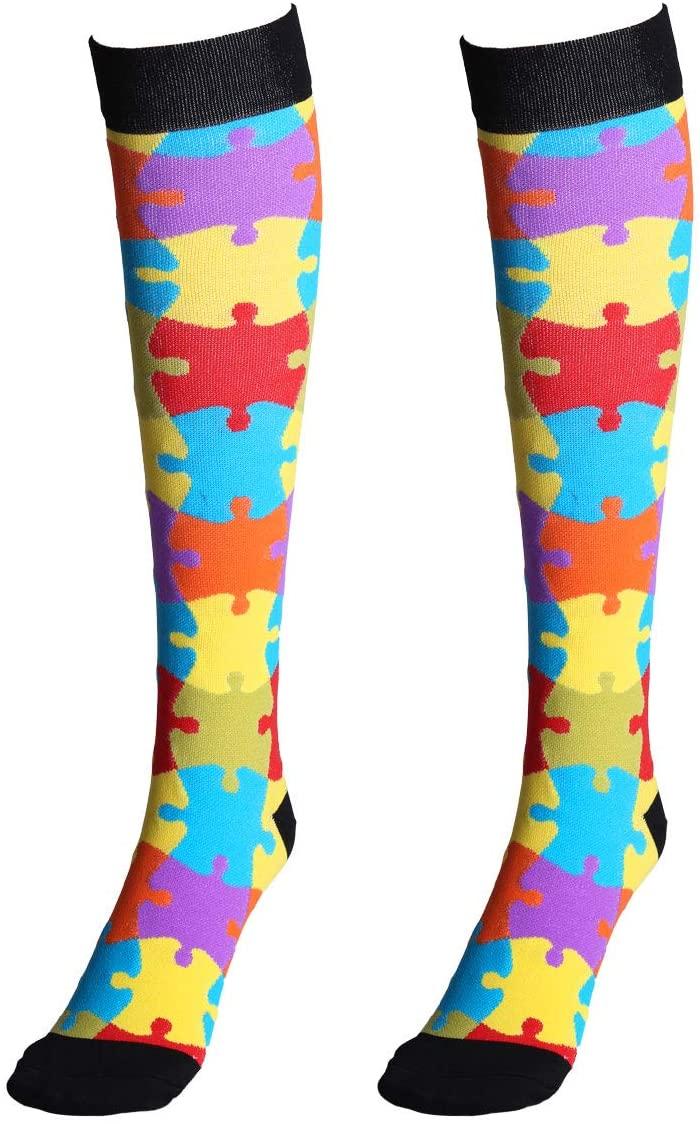 CHICTRY 1 Pair Compression Socks Knee High Running Stockings for Sports Travel Medical Shin Splints Nursing Pregnancy Type E L/XL