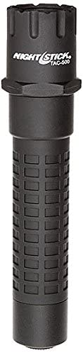 Nightstick TAC-500B Polymer Multi-Function Tactical Flashlight, Rechargeable, 6.25-Inch  159mm, Black