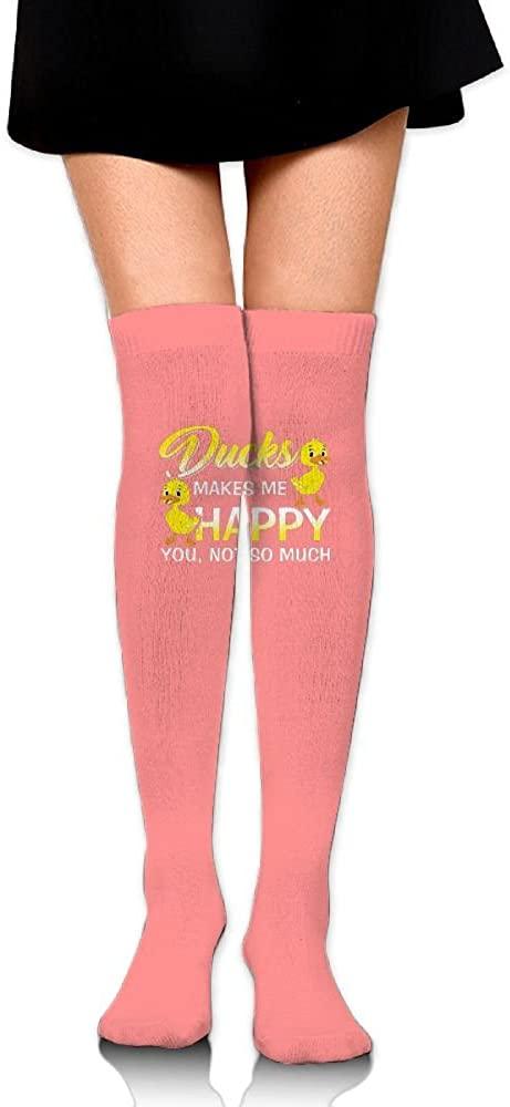 JINYOUR Ducks Make Me Happy Women's 60cm Knee High Socks Thigh High Stockings
