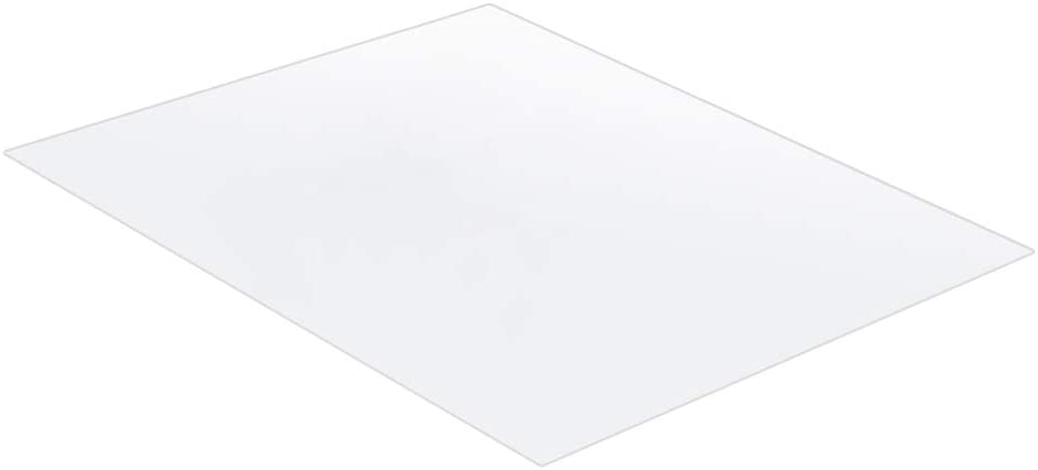 Yaoyodd19 PVC Carpet Pad Transparent Wood Floor Protection Anti-Skid Computer Desk Chair Mat for Office and Room Transparent 6570cm