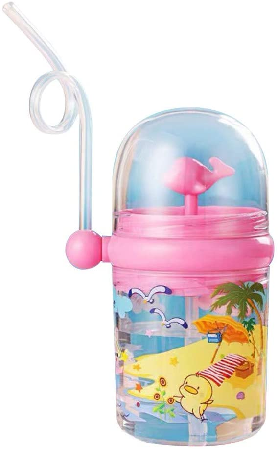 Fineday Camping & Hiking, Wind Whale-Water Spray Cup Summer Children Plastic Straw Water Drop Resistant, Outdoor&Sport HotSales (Pink)
