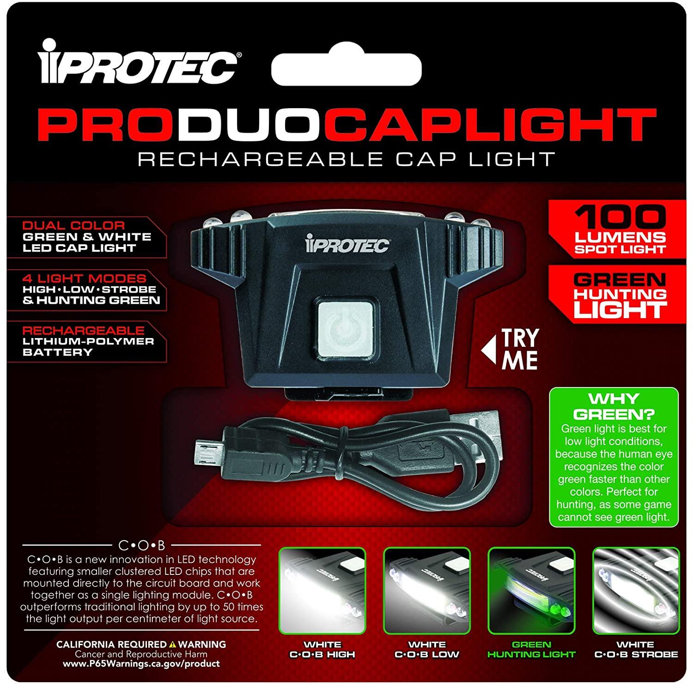 iProtec Produocaplight Rechargeable Cap-Light
