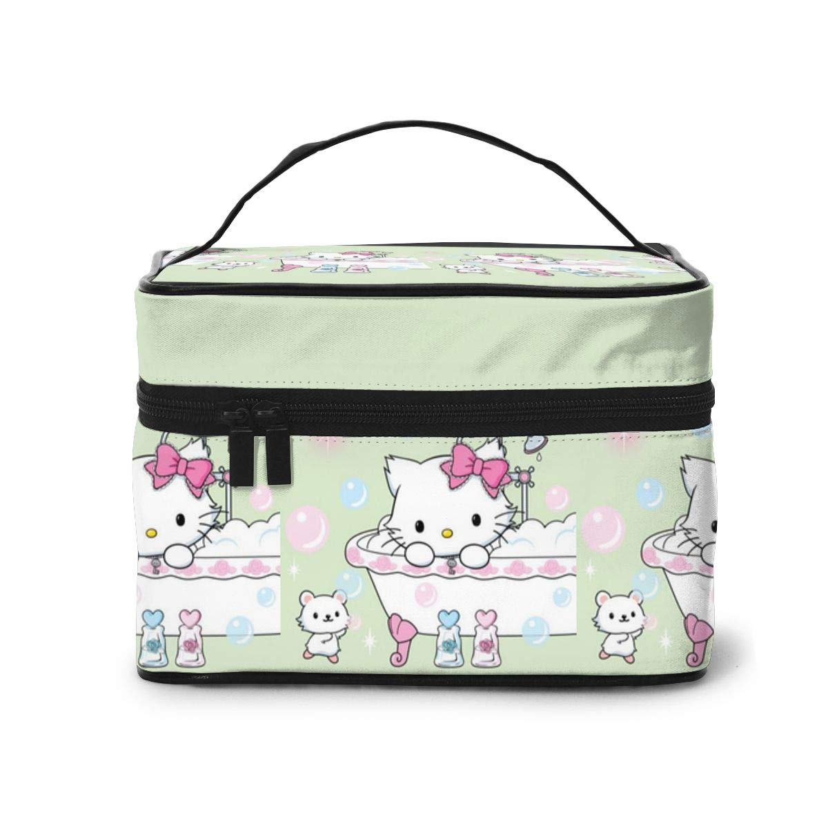 Makeup Bag, Charmmy Kitty Travel Portable Cosmetic Bag Large Pouch Mesh Brush Organizer Toiletry Bag for Women Girls