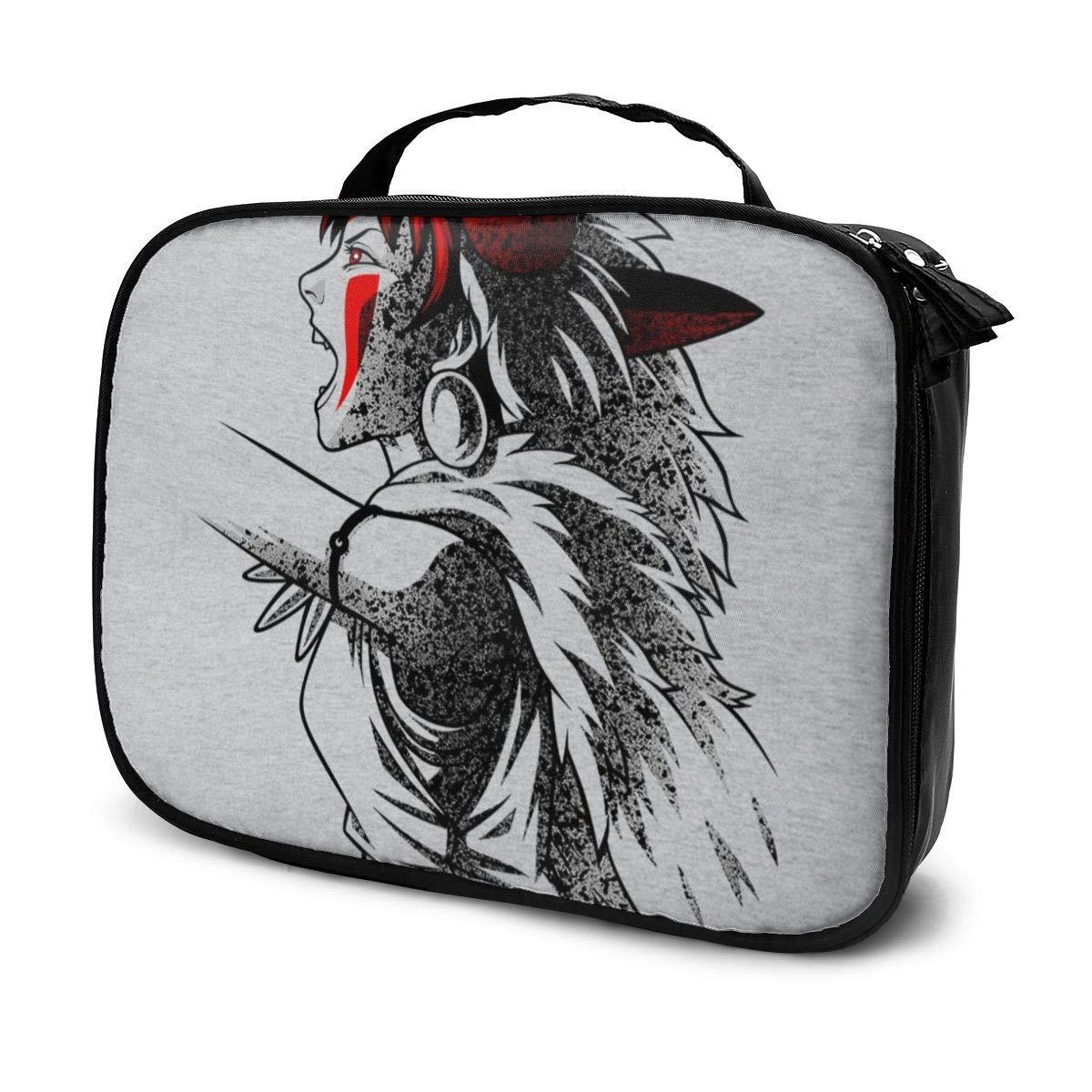 Makeup Bag Cosmetic Pouch Princess Mononoke Side Profile Multi-Functional Bag Travel Kit
