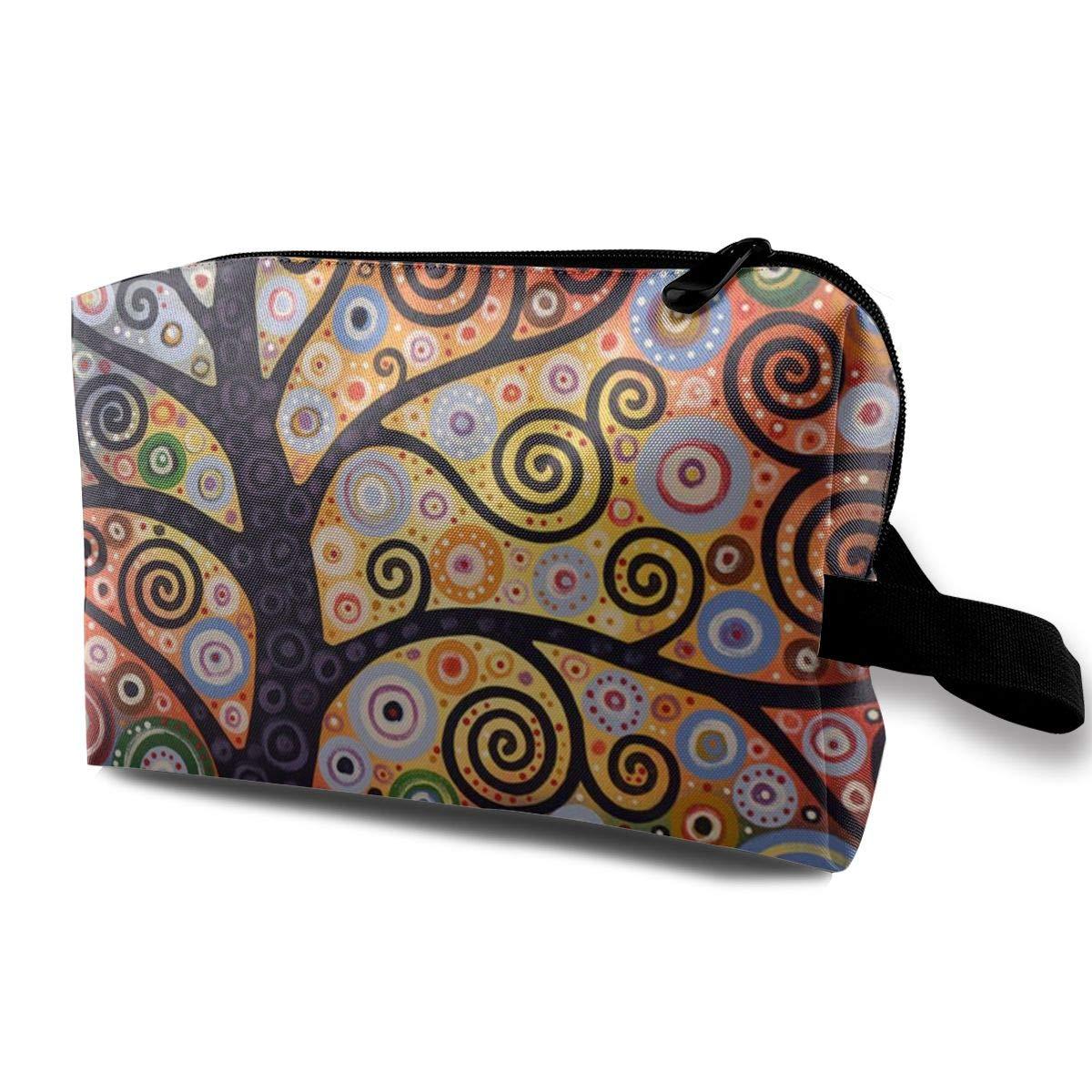 Beautiful Art Tree Toiletry Bag Multifunction Cosmetic Bag Portable Makeup Pouch Travel Organizer Bag For Women Girls