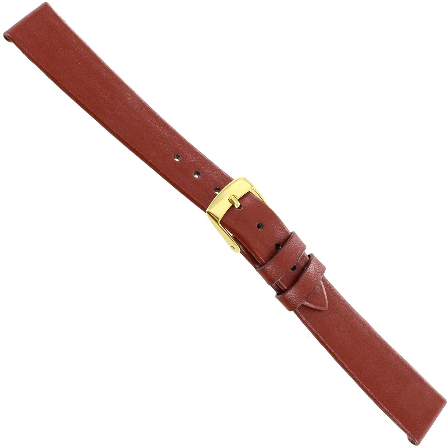 14mm Morellato Tan Genuine Calfskin Leather Unstitched Ladies Watch Band 116