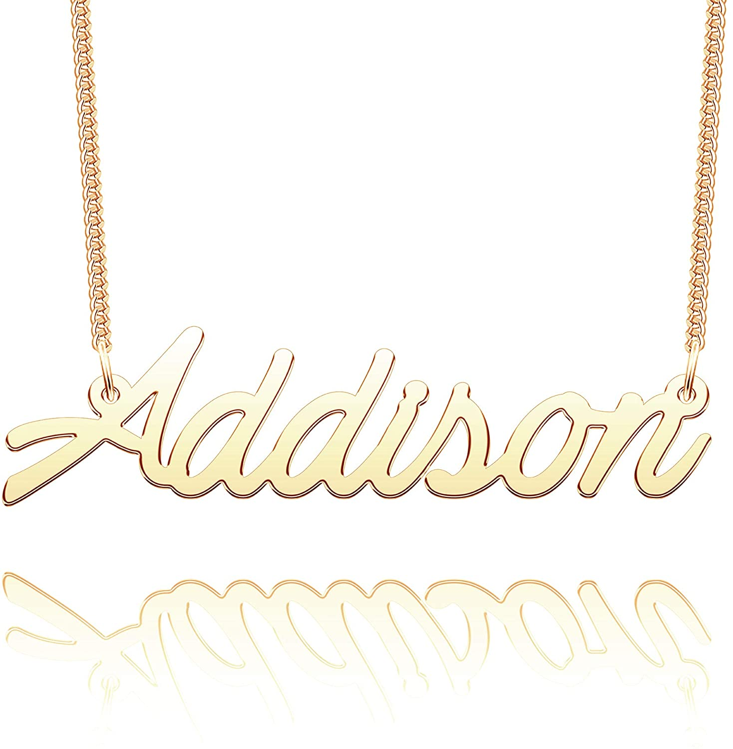 CLY Jewelry Name Necklace of Gold Plated Pendant with Personalized Gift for Women Girls Couple