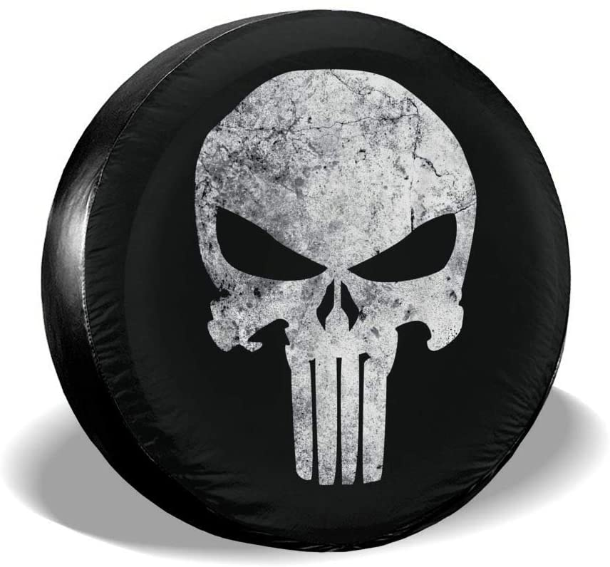 ESS Eyewear The Punisher The Universal Wheel and Tire Protection Cover is Suitable for The Tires of Jeep, Trailer, Rv, SUV, Truck and Many Vehicles