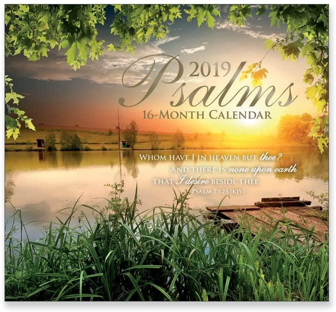 16 Month Wall Calendar 2019: Psalms - Each Month Displays Full-Color Photograph. September 2018 to December 2019 Planning Calendar