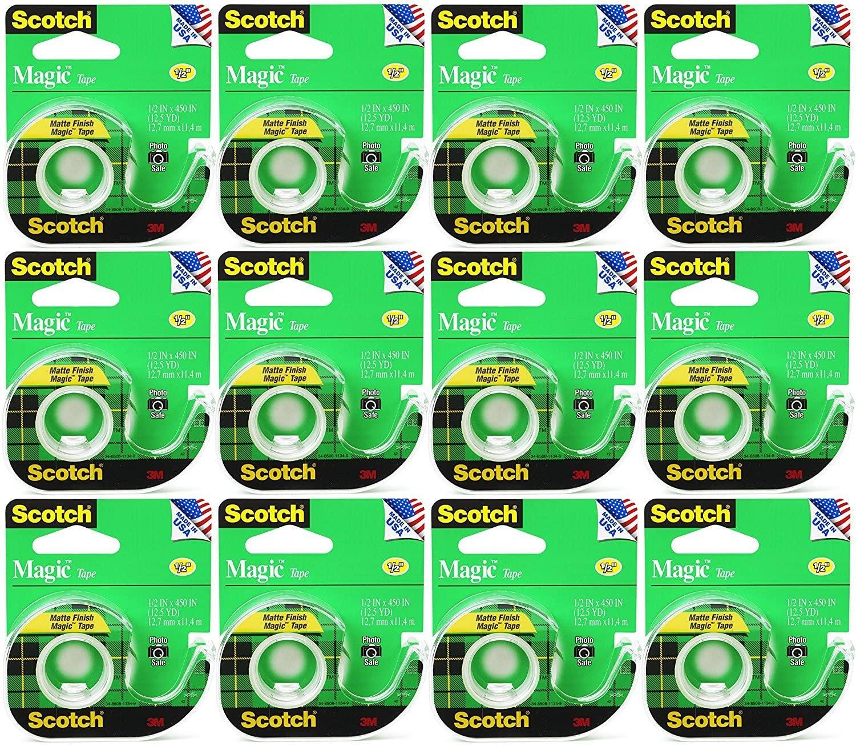 Bulk Buy: 3M Scotch Magic Tape Matte .5