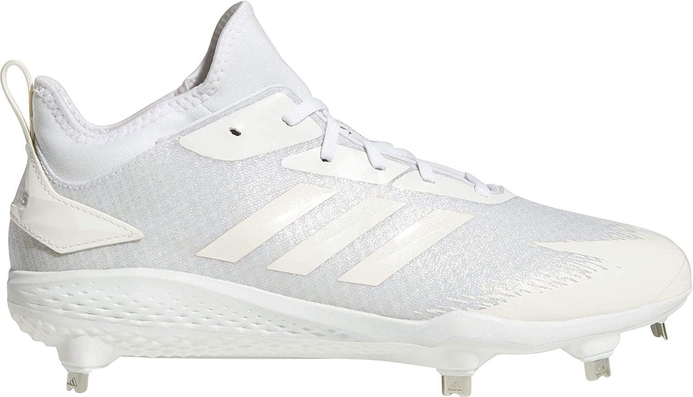 adidas Men's Adizero Afterburner V Dipped Metal Baseball Cleats, (White, 8.5 D(M) US)