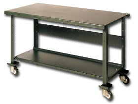 Pollard Bros. Mfg. Co., Deluxe Heavy Duty Mobile Work Bench, H124-166Xs, Size: 60 X 29 X 35, Casters: Steel-All Swivel, Capacity : 1400 #, Weight: 170 #, Color: Blue, 124-166Xs