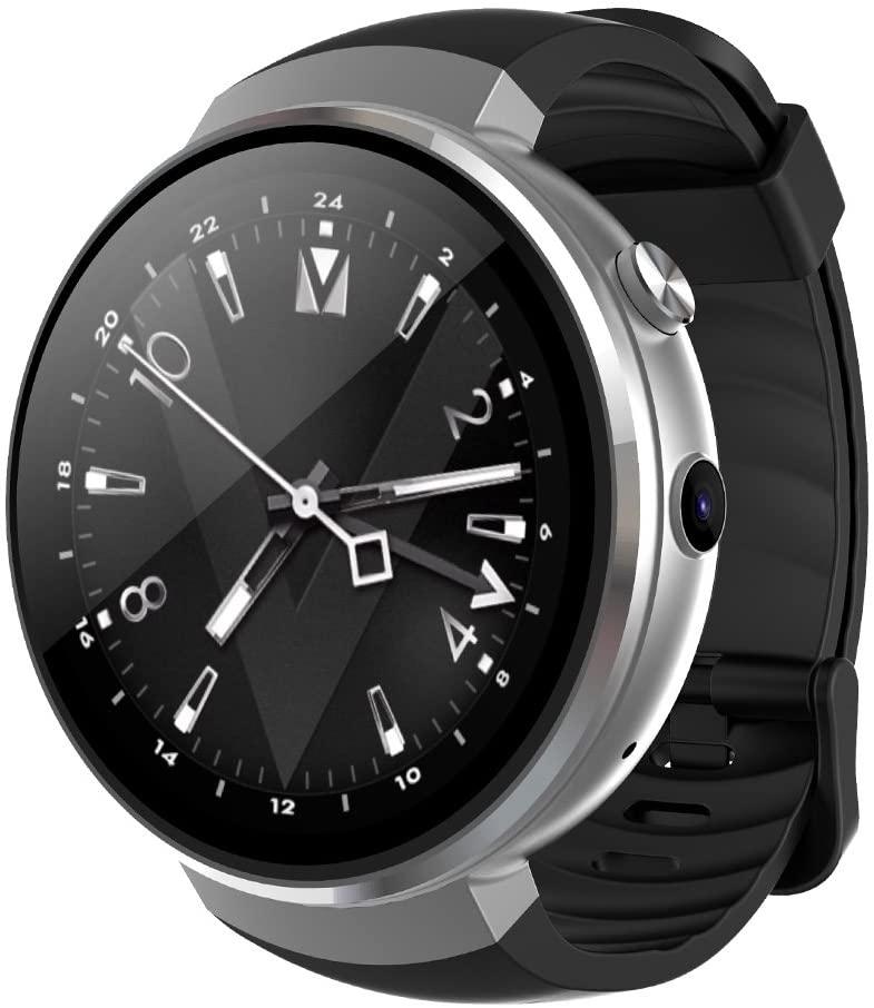 LEM7 Smart Uhr Android 7.0 Smartwatch Unterstützung LTE 4G Anruf Herzfrequenz Tracker Mit Kamera Übersetzung Für Männer Frauen,B