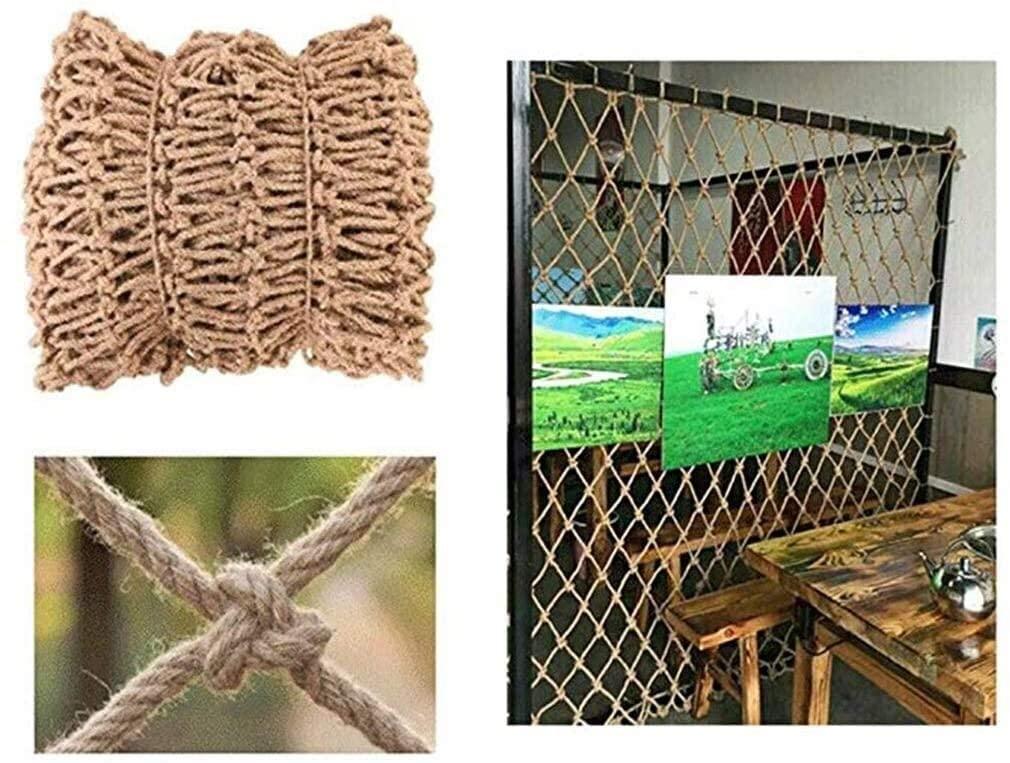 Jute Netting Netting Cargo Hemp Net Camouflage Net Partition, Industrial Wind Punk Decoration Garden Cafe Bookstore Network Cafe Net Curtains 0622 (Size : 2x2m)