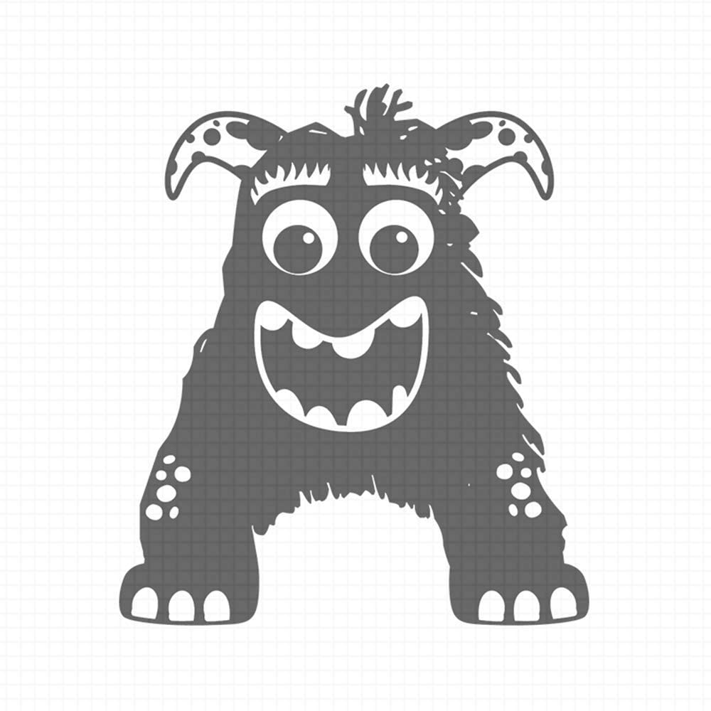 Alpha Monsters - A, pre-Inked Rubber Stamp (#100201-30BK)