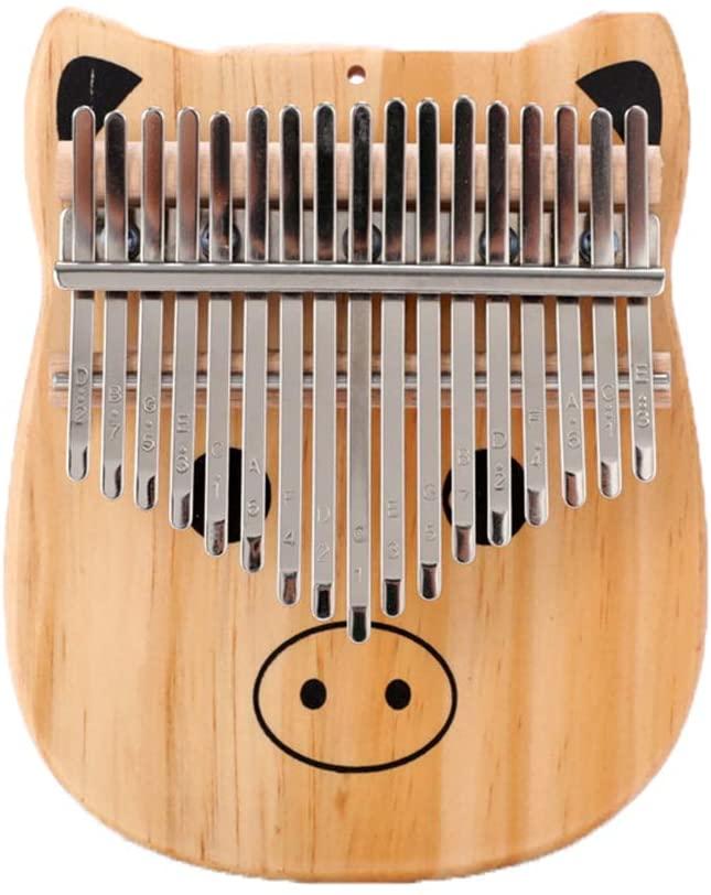 LI&muzi 17 Keys Portable Thumb Piano Finger Piano Knock Piano Musical Instrument,with Tuning Hammer & Piano Bag,C