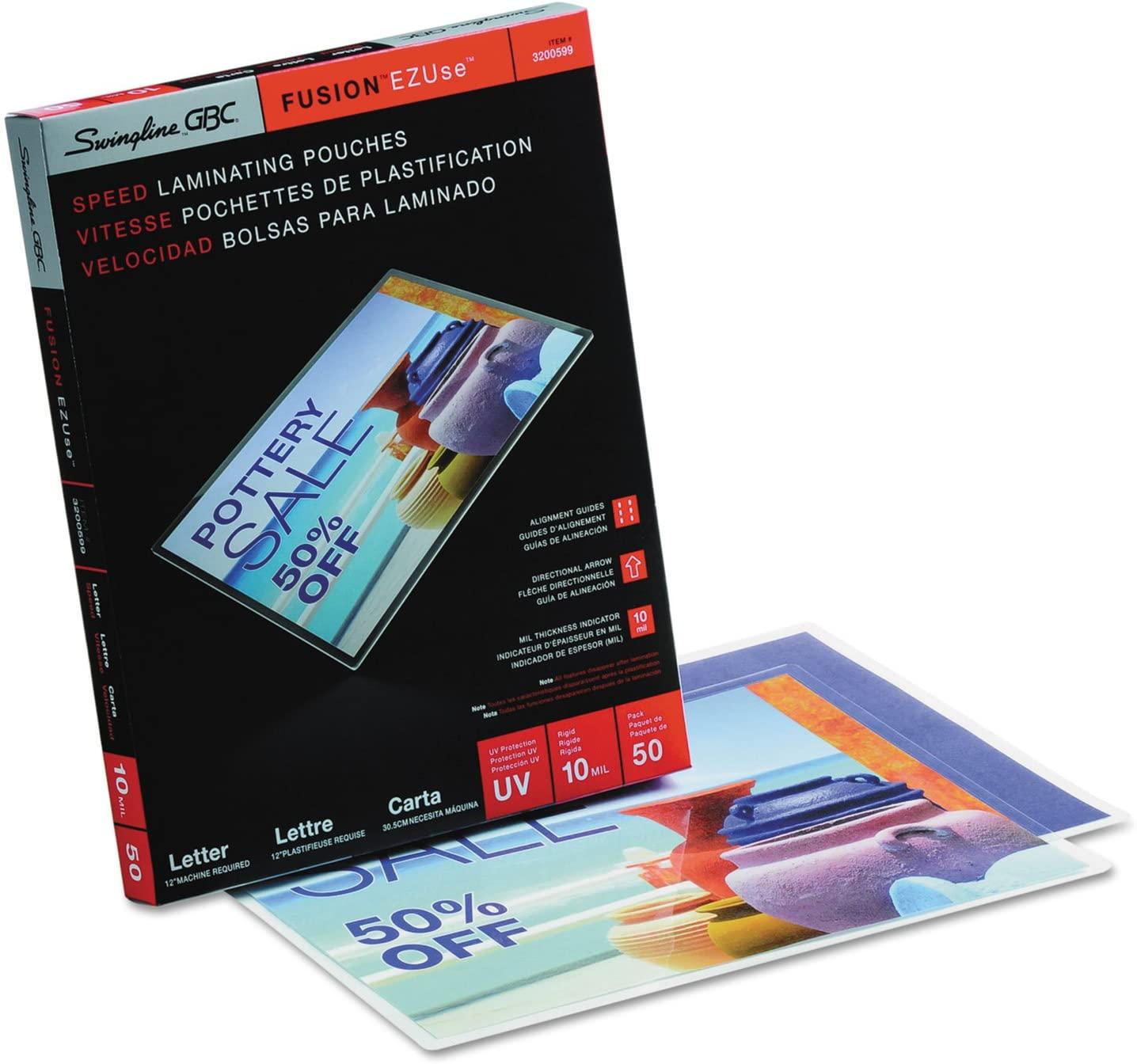Swingline GBC 3200599 Fusion EZUse Premium Laminating Pouches 10 mil 11 1/2 x 9 50/Box