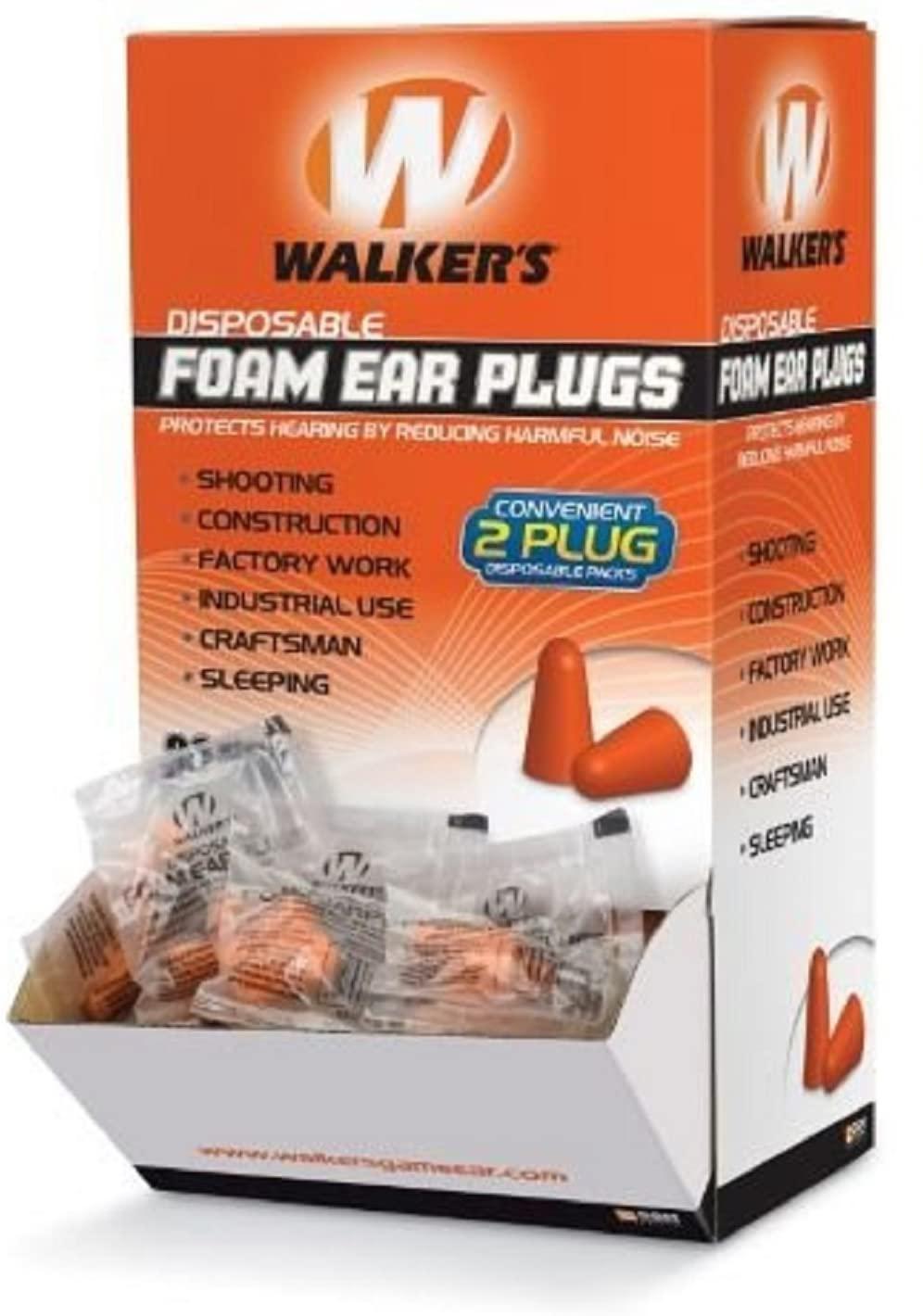 Walker's Foam Ear Plugs (200 Pair Box)