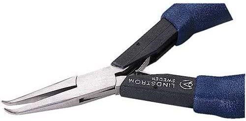 Lindstrom HS7892 - Lindstrom Plier, Bent Chain Nose, Smooth Jaws, HandSaver Ergonomic Handles