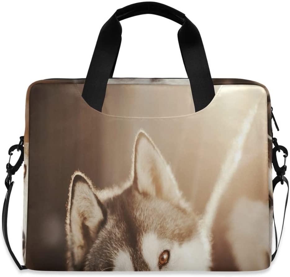 Laptop Bag, Siberian Husky in Sun Rays Laptop Briefcase Bag, 16 Inch Slim Laptop Backpack Laptop Case
