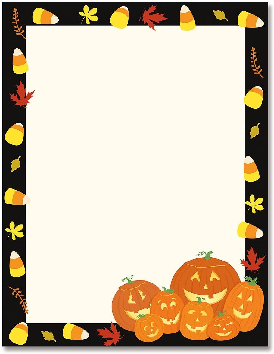 CURRENT Jack Stack Halloween Pumpkin Letter Papers- 25 Sheets of of Holiday Letter Papers, Newsletter, Announcement, and Invitation
