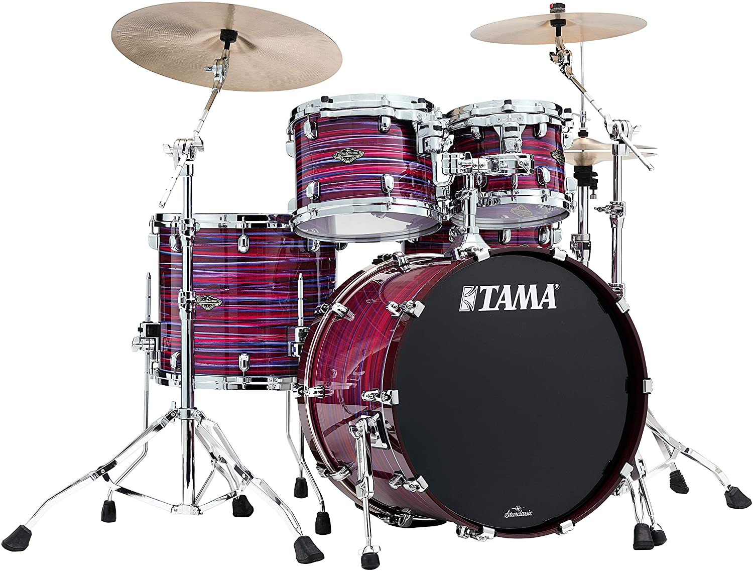Tama Starclassic Walnut Birch Lacquer 4-Piece Shell Pack - Phantasm Oyster