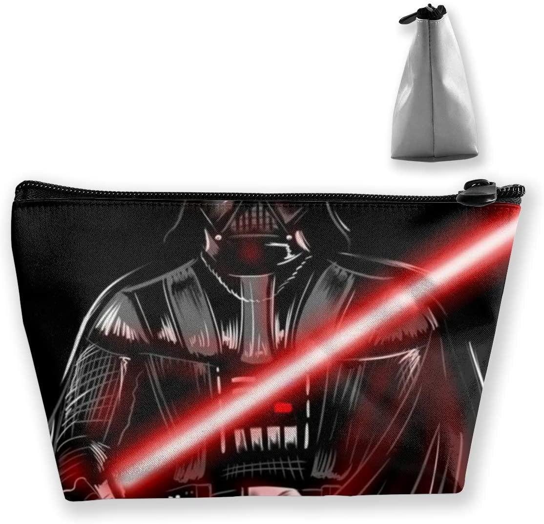 Star Wars Jedi Travel Makeup Bag Trapezoid Bag With Zipper Waterproof Storage Bag Portable