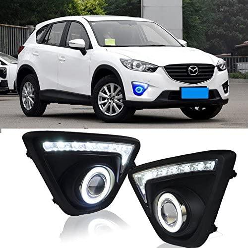 AupTech LED DRL/Angel Eyes Daytime Running Lights Fog Lights Lamp Kit for Mazda CX5 CX-5 2013 2014 2015 2016